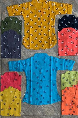 Wholesale Daily Wear Cotton Printed Girls Top Collection