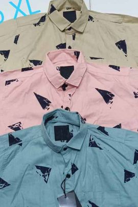 Wholesale Daily Wear Cotton Printed Mens Shirts Collection