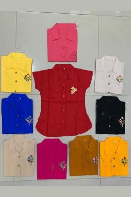 Wholesale Daily Wear Cotton Printed Tops Collection Kurti Garment