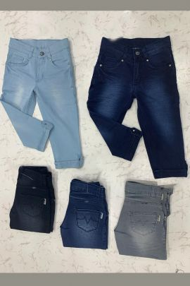 Wholesale Daily Wear Denim Plain Girls Capri Collection