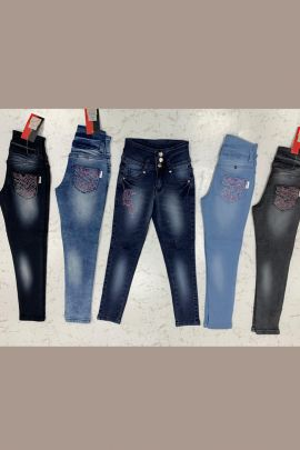 Wholesale Daily Wear Embroided Denim Girls Jeans Catelogue