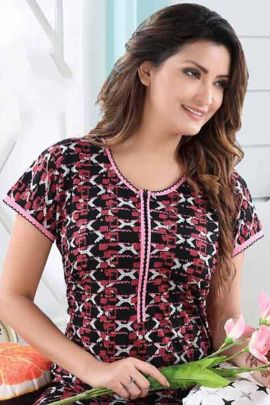 Wholesale Daily Wear Hosiery Printed Kavya Style Plus Nighty Collection
