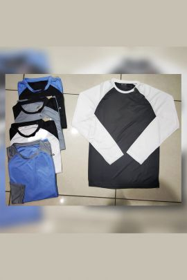 Wholesale Daily Wear Nylon Mens Plain Tshirts Infinity Formation Set