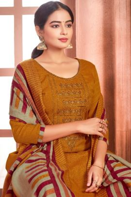 Wholesale Daily Wear Pashmina Printed Salwar Suit With Dupatta Set