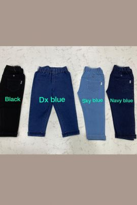 Wholesale Daily Wear Plain Denim Girls Capri Collection