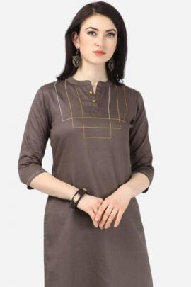 Wholesale Daily Wear Plain Oro Lifestyle Stright Cut Cotton Kurti Catelogue