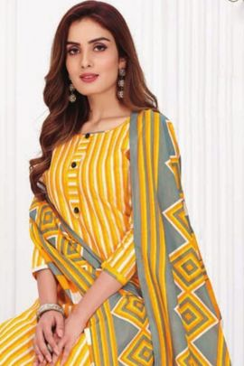 Wholesale Daily Wear Printed Cotton Patiyala Suit By Kundan