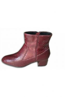 Wholesale Dark Brown Synthetic Leather Ladies Fancy Boot Collection