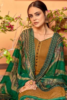 Wholesale Ethnic Wear Rayon Slub With Swarovski Work with Pace Button Suit with Dupatta Catlog