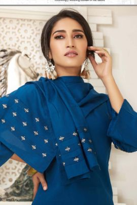Wholesale Event Stylish Wear Rayon Rung Embroidery Ready Made Salwar Suit Collection