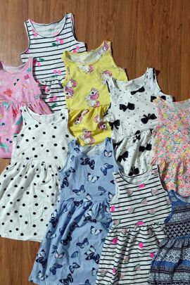 Wholesale Event Wear Cotton Printed Readymade Girls Frock Collection