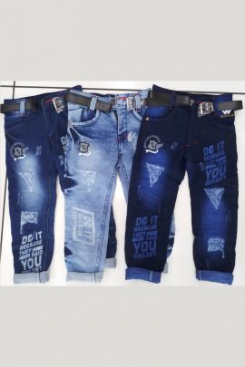 Wholesale Fancy Wear Printed Denim Kids Boys Funky Jeans Collection
