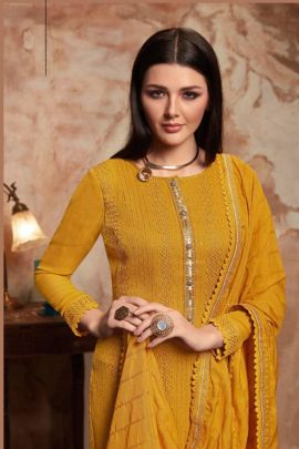 Wholesale Festival Wear Georgette Suit With Khatli Work By Kessi Fabrics