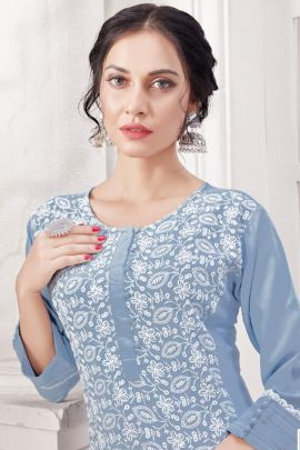 Wholesale Festival Wear Rayon Sequins Work Kurti With Pant Set