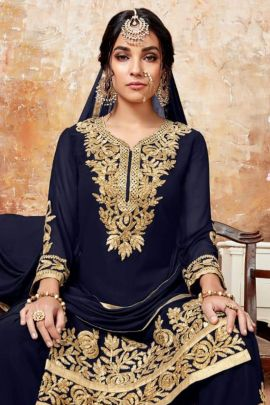 Wholesale Georgette Embroidery Event Wear Salwar Suit