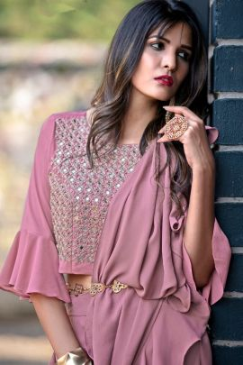 Wholesale Imported Stylish Designer Mirror Work Indo Western Suit Collection