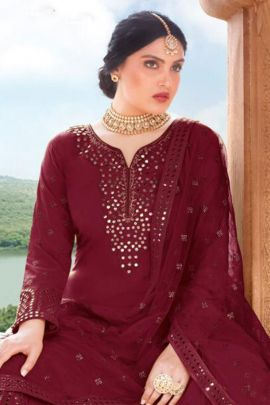 Wholesale Ocassion Wear Suit With Embroidery And Mirror Work By Your Choice