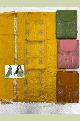 Wholesale Occasional Ethnic Wear Un Stitched Dress Material Collection