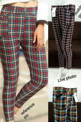 Wholesale Party Wear Chex Print Imported Pant With Pocket Catelogue