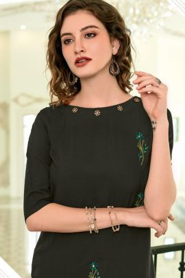 Wholesale Party Wear Embroided Rayon Kurti Collection