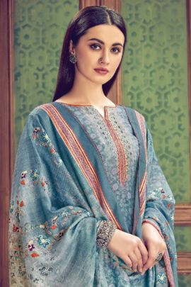Wholesale Party Wear Printed Pashmina Suit With Plazzo and Dupatta By Alok Suit