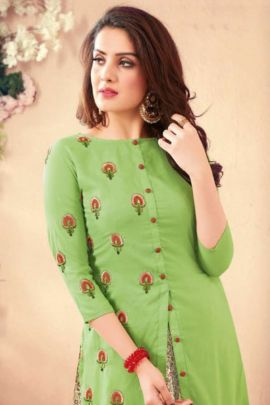 Wholesale Rayon Embroidery Full Length Sweety Fashion Kurti Collection