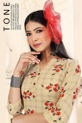 Wholesale Rayon Printed Simple Daily Wear Knee Length Kurti Collection