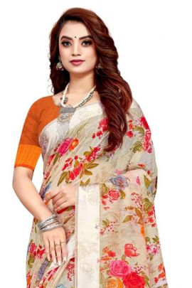 Wholesale Regular Office Wear Floral Printed Georgette Himpriya Fashion And Blouse Collection