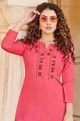 Wholesale Reyon With Embroidery Work Stylish Western Style Tops By Kessi Fabrics Collection