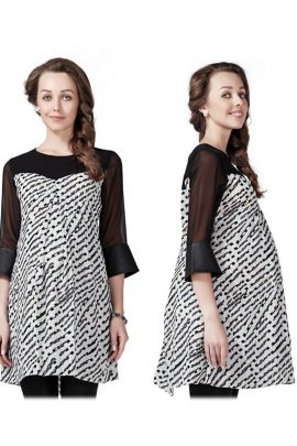 Wholesale Set Of 5 Casual Office Wear Printed Waist Length Maternity Dress For Womens