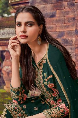 Wholesale Wedding Wear Embroidery Work Georgette Suit By Amyra Designer