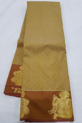 Wholesale Wedding Wear Silk Weaved R Yuvaraj Kanchipuram Saree Set