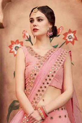 Wholesale Weeding Wear Soft Net Embroidery Lengha Choli Collection
